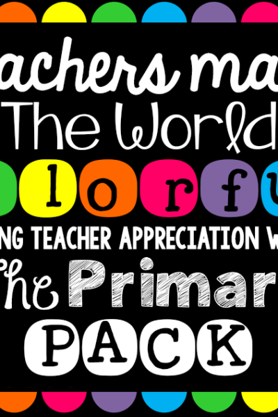 Teachers Make the World Colorful- Giveaway!