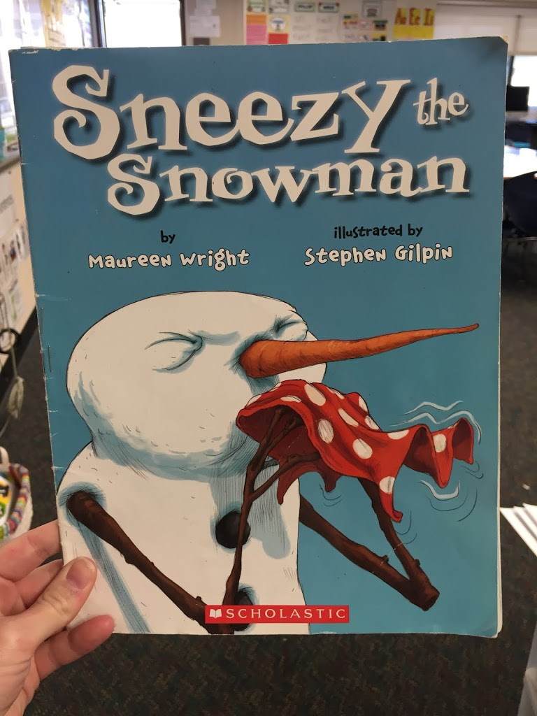 Sneezy the Snowman: Word Melt Freebie!
