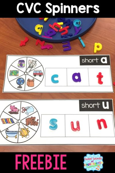 CVC Word Spinners: Magnet Letters