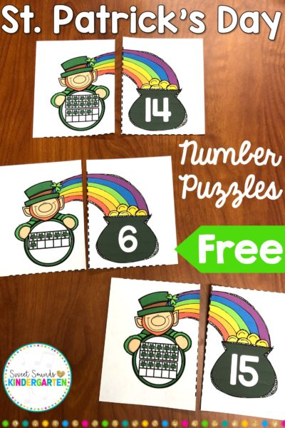 St. Patrick's Day Number Freebie