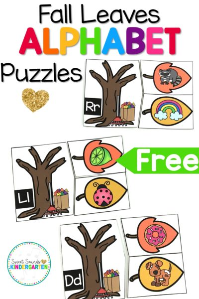 Fall Leaves Alphabet Puzzles