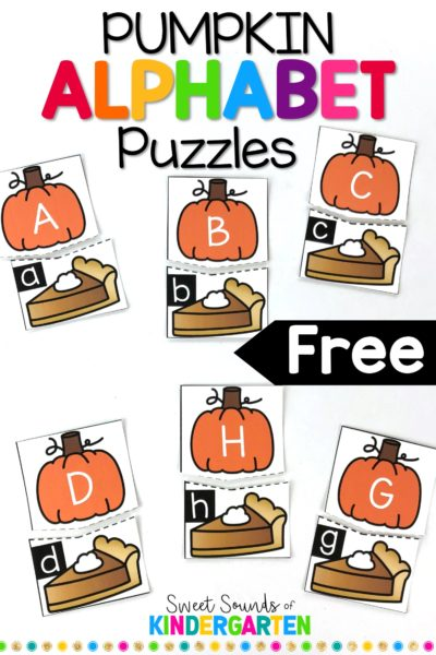 Pumpkin Alphabet Matching Game!